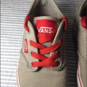 Vans Shoes - ♥️ Vans 12.5 Kids Tan and Red Skater Sneaker